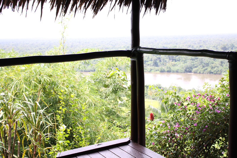 view from our room at Karawari Lodge