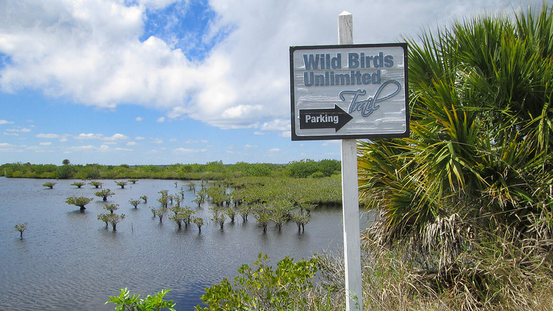 Sign for Wild Birds Unlimited Trail
