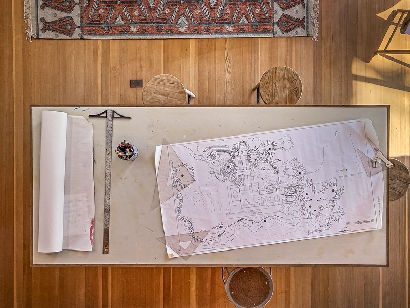 The Drafting Table from Above