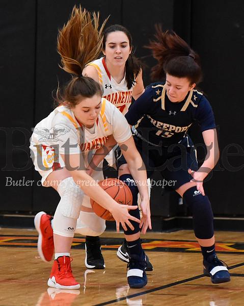 58352 Freeport vs North Catholic girls basketball section game at North Catholic High school