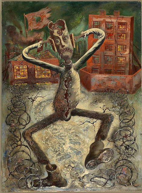 George Grosz, The Gray Man Dances (1949)