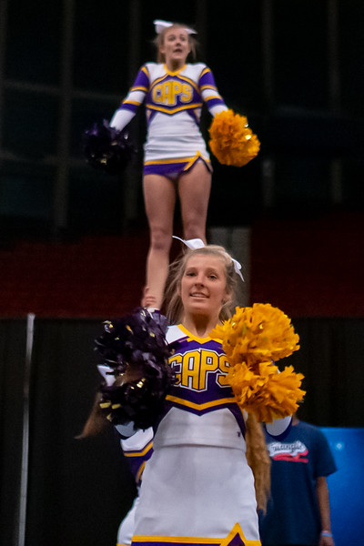 Broughton cheerleading Pre-States. November 16, 2019. D4S_1773