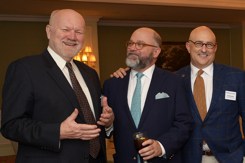 NEHGS Trustee Nordahl Brue, Brenton Simons, and Curt DiCamillo.