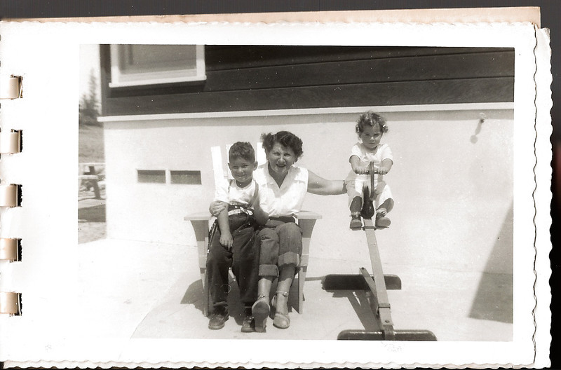 Ellis Mirsky, Shirley Jacobs and Phyllis Jayne Mirsky, ca. 1951