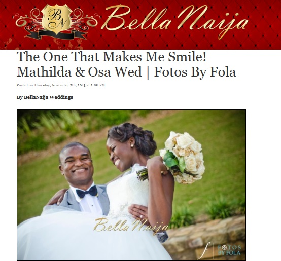 Mathilda & Osa Wedding on Bella Naija