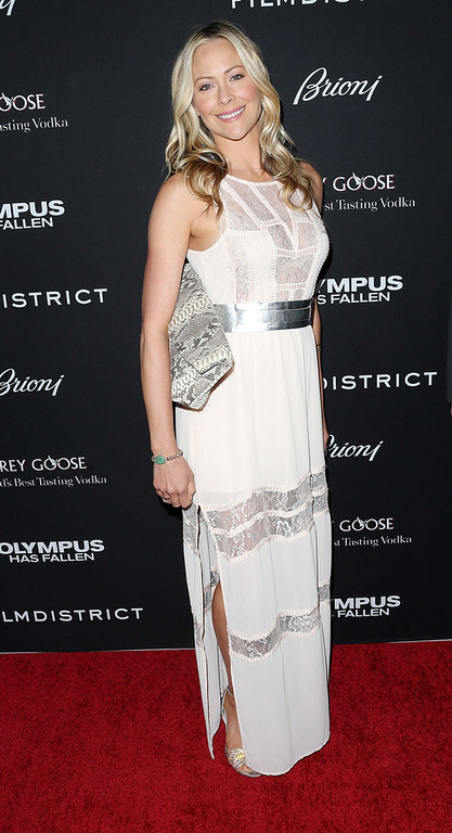 """. Actess Kelli Giddish attends the Premiere of FilmDistrict\'s \""""Olympus Has Fallen\"""" at the ArcLight Cinemas Cinerama Dome on March 18, 2013 in Hollywood, California.  (Photo by Frederick M. Brown/Getty Images)"""