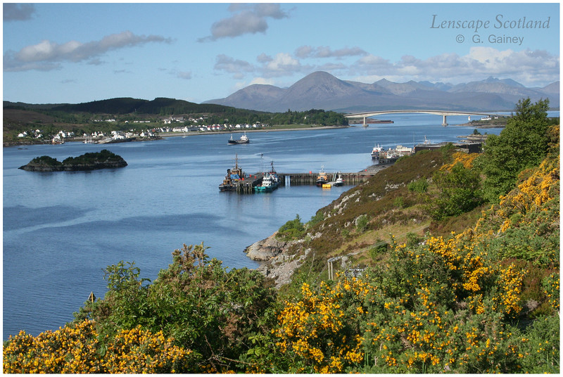 Skye bridge and the Cuillins from Kyle of Lochalsh