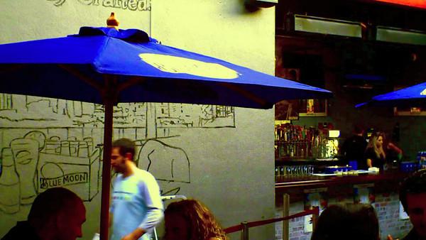 Blue Moon Beer Mural at Mc Fadden May 2012