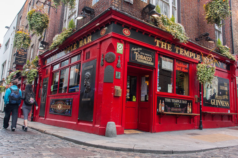 The Temple Bar in Dublin, Ireland.