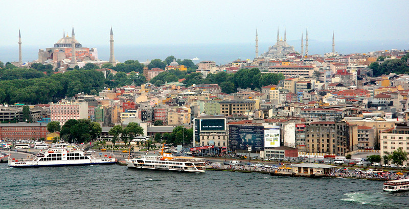 Sultanahmet (Old City) area of Istanbul viewed from Galata Tower