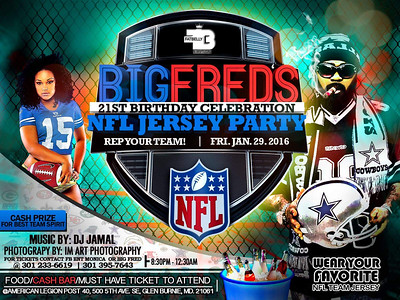 Fat Belly Ent Presents: Big Fred's 21st Birthday Celebration: NFL Jersey Party @ American Legion Post 1.29.16