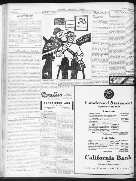Daily Trojan, Vol. 23, No. 26, October 16, 1931