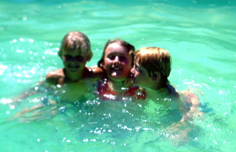 1978-1 (6) Andrew 8 yrs 5 mths, Susan 12 yrs 6 mths & Allen 6 yrs 8 mths in pool @ Caravan Park Geelong.jpg
