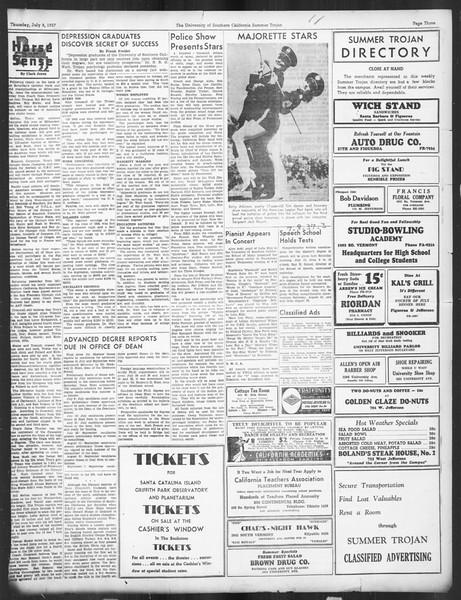Summer Trojan, Vol. 16, No. 5, July 08, 1937