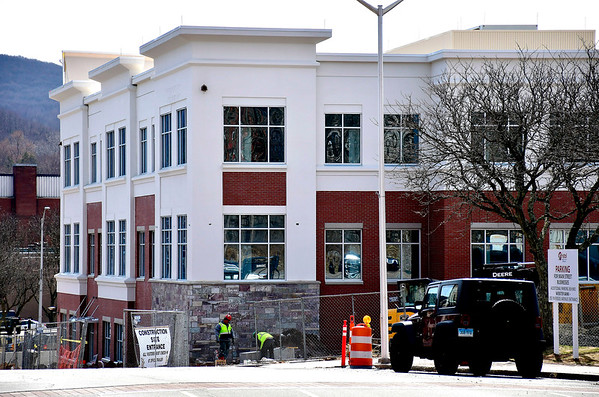 3/28/2019 Mike Orazzi | Staff Bristol Hospital's new building at the corner of Main Street and Riverside Avenue.