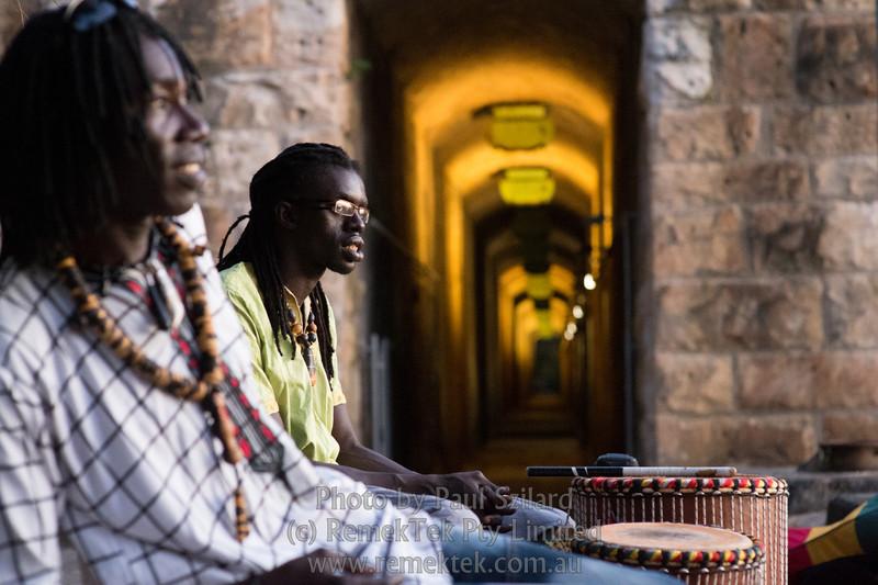 Earth Hour Afrikan-Australian drummers at Coal Loader's, Waverton