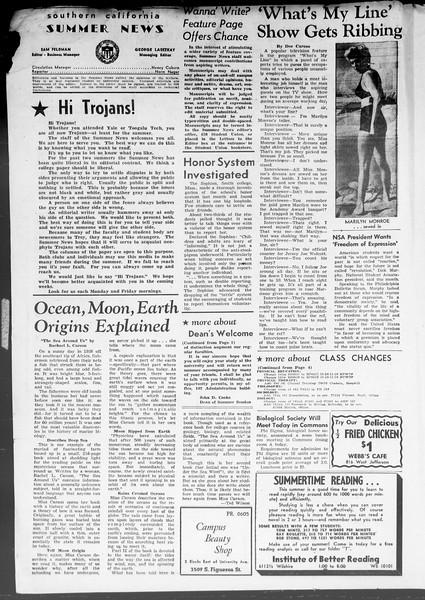 Summer News, Vol. 8, No. 1, June 22, 1953