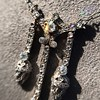 1.63ctw Victorian Triple Drop Diamond Necklace 16