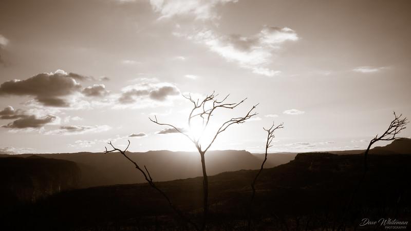 Sunset over Du Faur Head