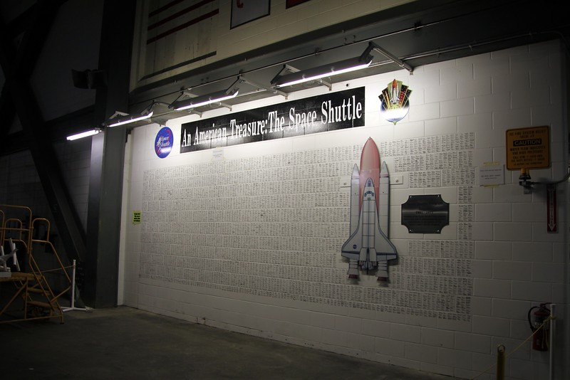 Signatures of the NASA employees and contractors who worked on the Space Shuttle in the Vehicle Assembly Building