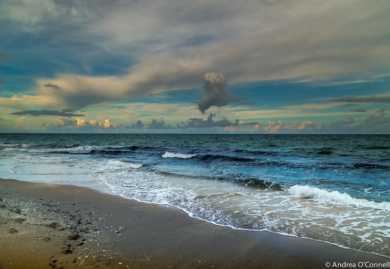 Atlantic Ocean Shoreline - Fort Lauderdale Beach, Florida - 2014