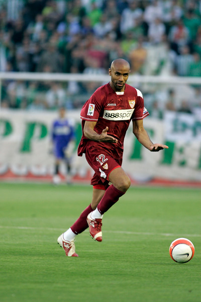 Kanoute (Sevilla FC). Local derby between Real Betis and Sevilla FC, Ruiz de Lopera stadium, Seville, Spain, 11 May 2008.