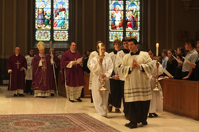 Bishop Evans offers School Mass 2012