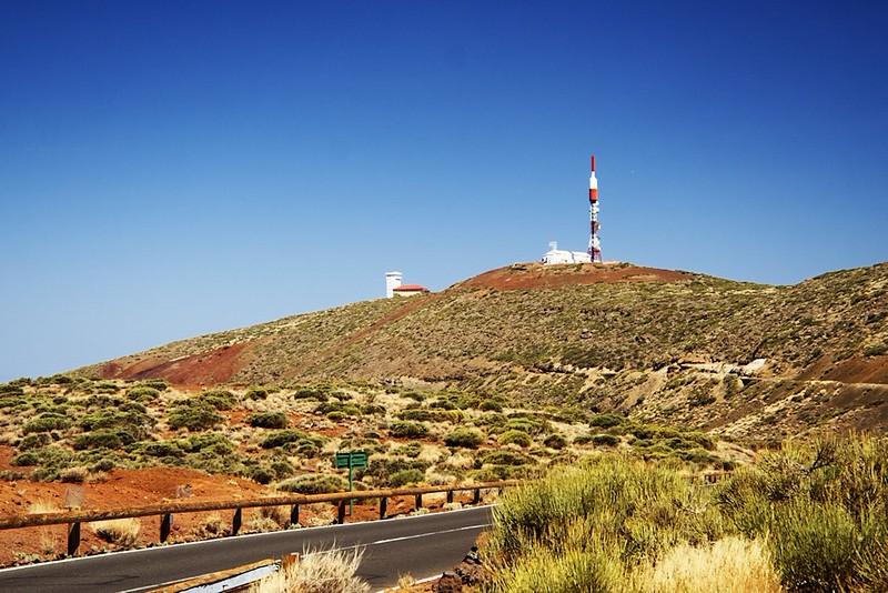 Meteorologická stanice na observatoři Izaňa z vyhlídky Arenas Negras