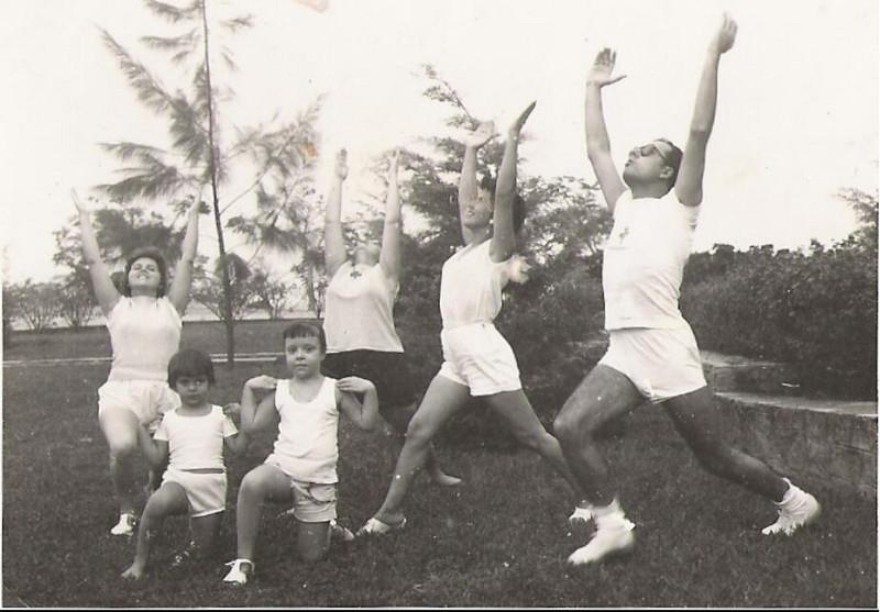1961-Barragem Dundo O casal Corte Real, a sra do Moreira Rato, a Esperança Josefa , Ana Maria Josefa e a Isabel Ritto