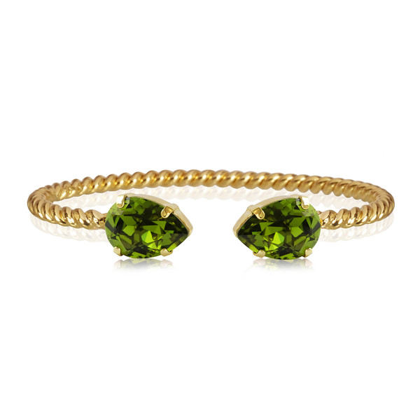 Mini Drop Bracelet / Olivine Gold