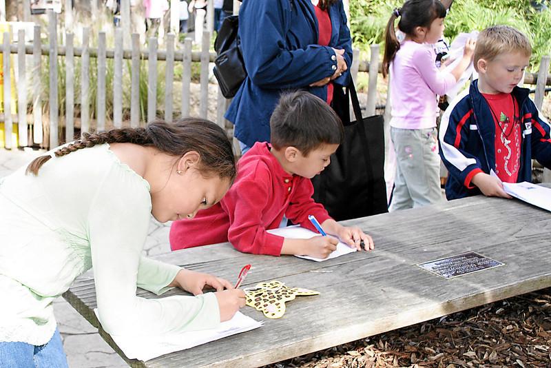 Alanna, Eli & Christopher at Alanna and Jaison's birthday party at the Santa Barbara Zoo.
