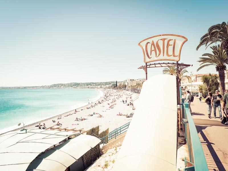 Along the Beach in Nice