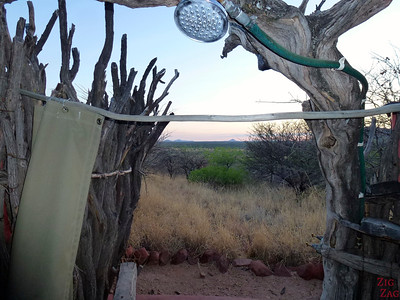 Wild shower at Africa Okonjima, Namibia