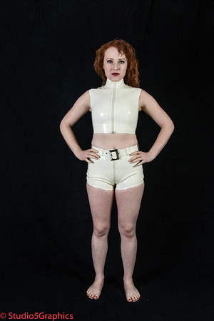 Elle White Booty Shorts latex