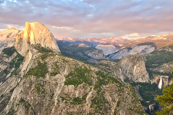 Golden Half Dome & Yosemite Falls