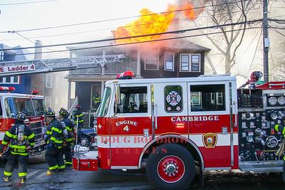 Cambridge, MA - 4th Alarm, 54 Reservoir Street, 4-18-17.