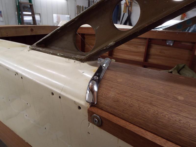 Custom starboard trim piece.