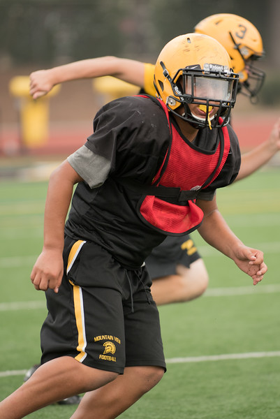 Taken during Varsity Football practice on Labor Day 2017 at Mountain View High School CA