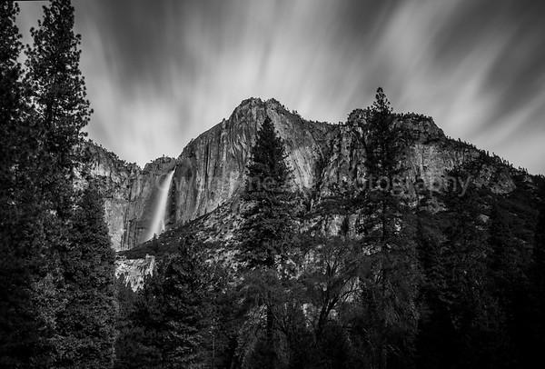 Yosemite Upper Falls in Winter