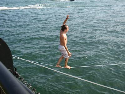 Balancing over water