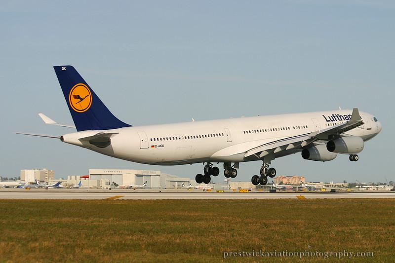 D-AIGK. Airbus A340-311. Lufthansa. Miami. 030304.