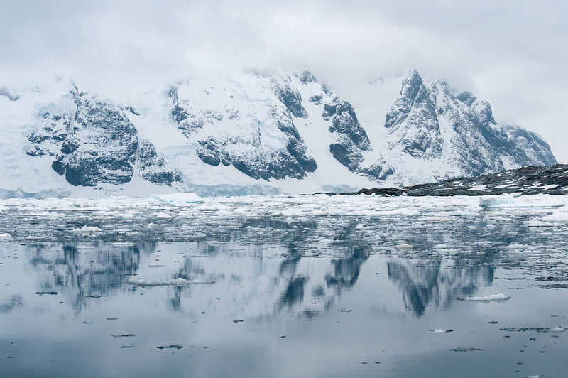 Scenery in Pleneau Bay, Antarctica