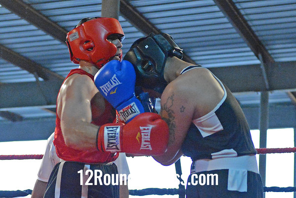 "Bout #5  Armondo ""AC"" Castro (King's Gym) vs Dustin Nepomuceno (East Dayton Boxing Club)  178 Lb. Novice"