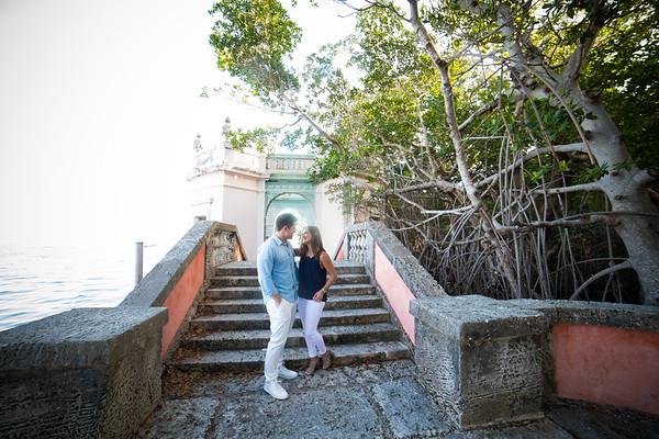 Dani Siegel and Nick Mancini in the Vizcaya Gardens