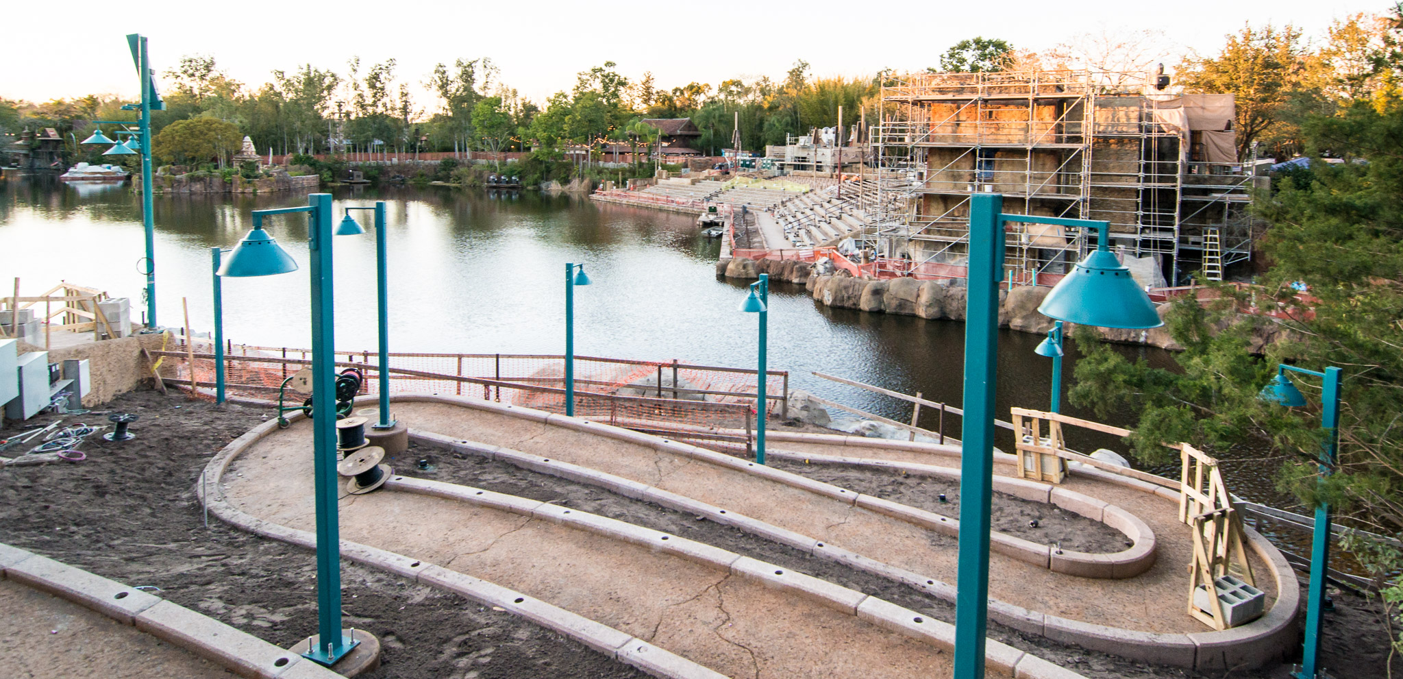 Animal Kingdom - Rivers of Light Construction Wheelchair Ramp
