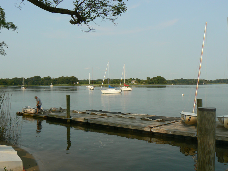 Ship Point has deep water on the pier side or our site.  Sailing ships anchored here in this safe harbor before picking up or discharging goods at the Centreville Wharf.