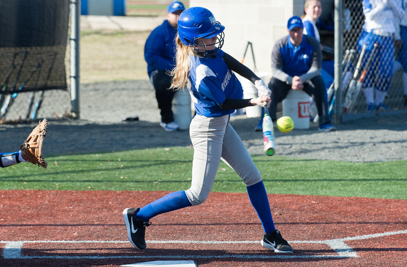 04/03/19  Wesley Bunnell   Staff  Bristol Eastern softball defeated Plainville at Plainville High School on Wednesday afternoon. Jasmine Perez (10).