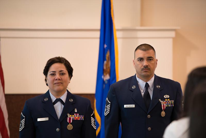 Master Sergeants Gabriela and Raymond Jaramillo