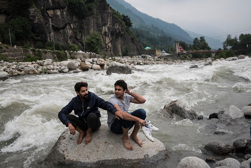 In the Beas River