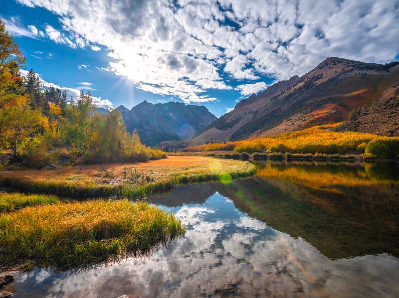 Autumn Flare & Flair: North Lake Bishop Creek Fall Foliage Autumn Colors  Elliot McGucken Fuji GFX100 Fine Art Landscape Nature Photography
